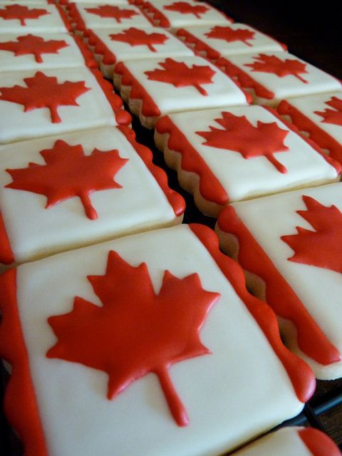 Canada Day Cookies by Cookievonster, via Flickr