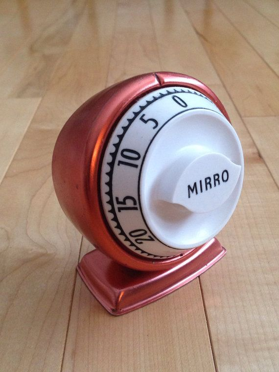 Vintage Mirro Kitchen Timer Egg Timer Copper  by SimplyAgain