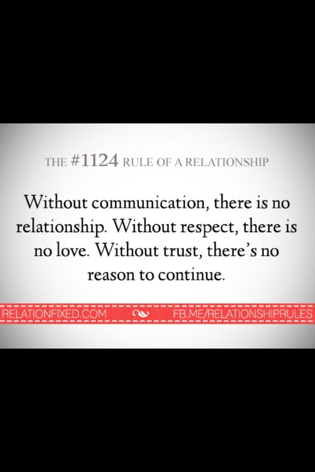 communication, respect,trust