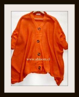 Sweater Naranja Manga 3/4 Corte en costado hermosa caida. Te encantara... www.abloom.cl