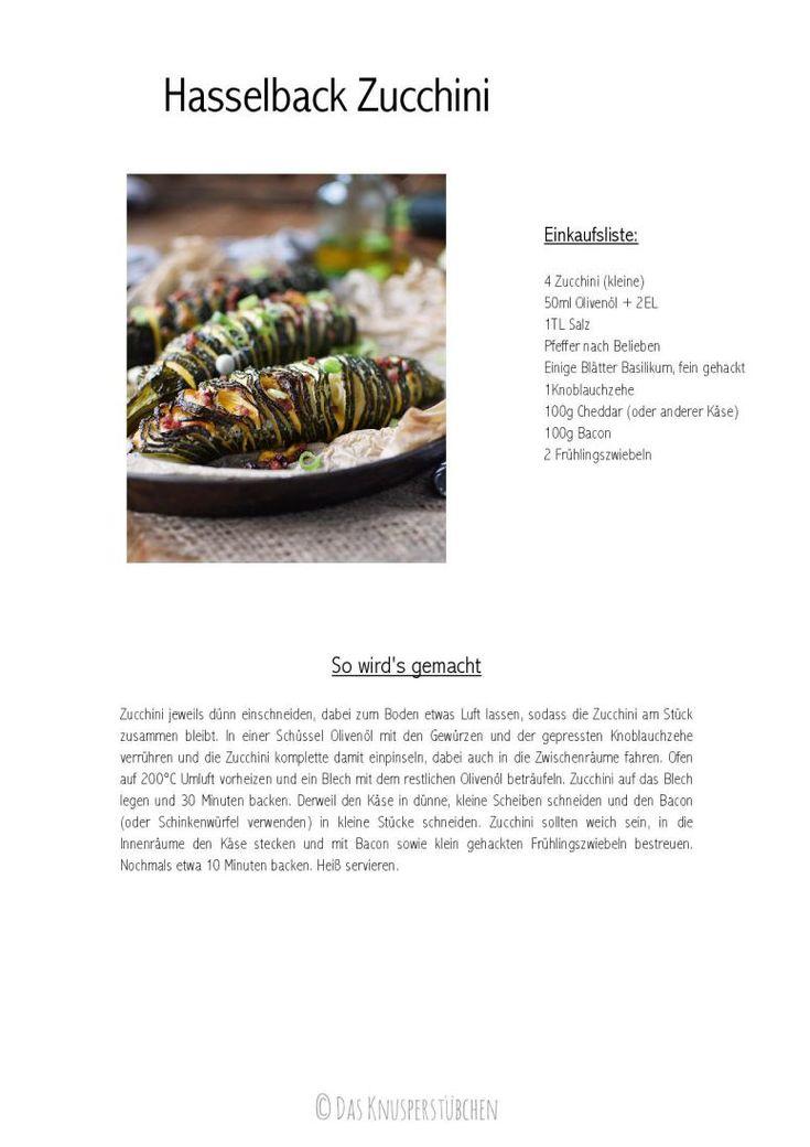 Hasselback Zucchini mit Cheddar und Bacon | Das Knusperstübchen