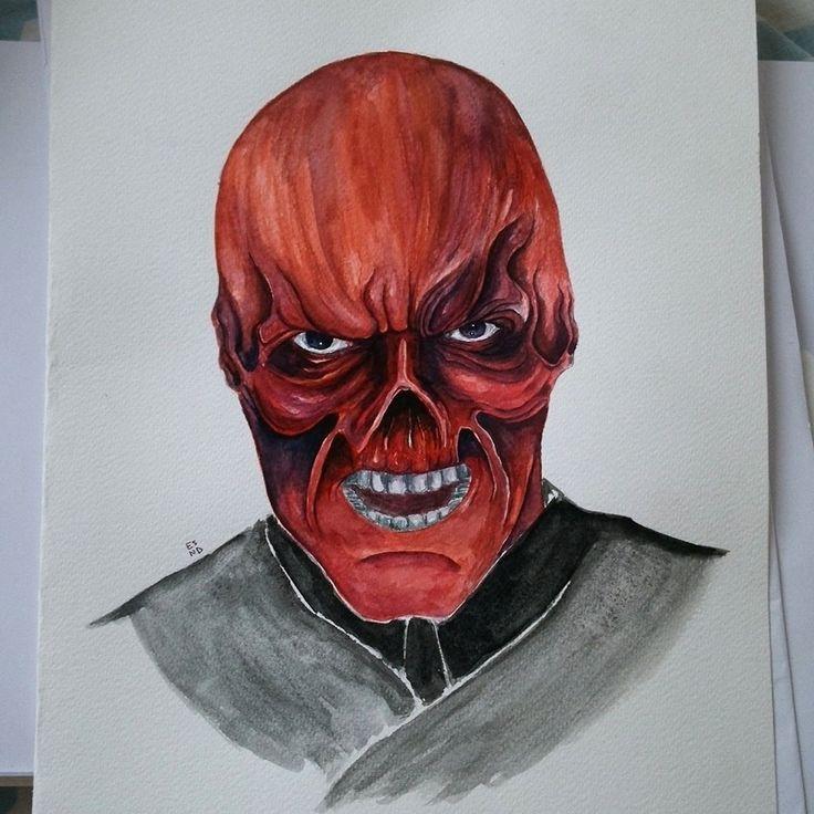 Drawing Red skull (Schmidt) Captain America - Marvel