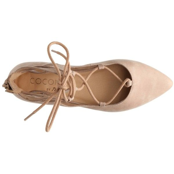 Coconuts Judge Ballet Flat ($50) ❤ liked on Polyvore featuring shoes, flats, heels, ballet heel shoes, ballet flats, ballerina shoes, heeled flats and skimmer flats