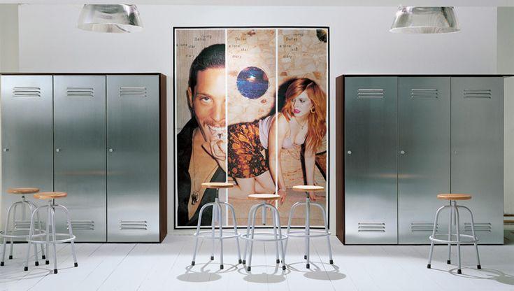 Sectional steel wardrobe CITYBOX by EmmeBi design Pietro Arosio
