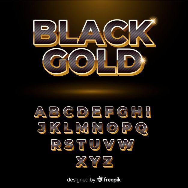 Baixe Alfabeto Preto E Dourado Gratuitamente Lettering Alphabet Alphabet Design Lettering Alphabet Fonts