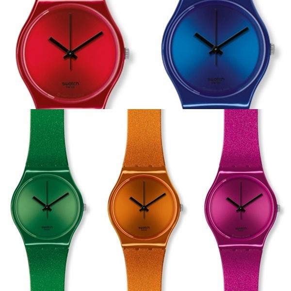 con mucho color relojes swatch metalizados