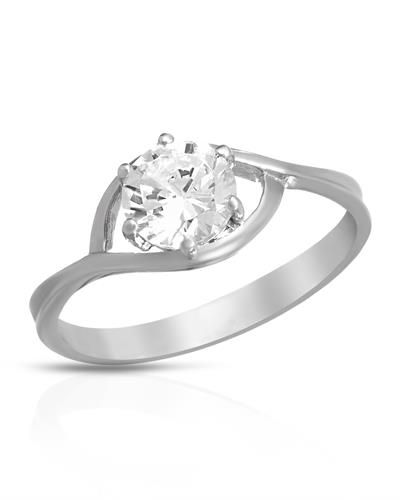 Brand New Ring With Cubic zirconia  925 Sterling silver - Certificate Available.