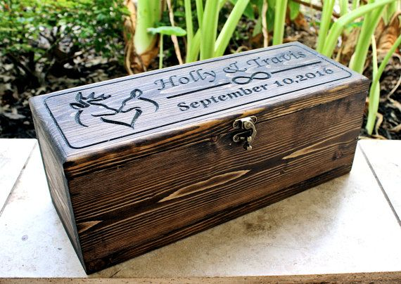 Personalized Wine Bottle Box,Wedding wine box, anniversary gift, wedding shower gift, First Fight Box, Wedding Capsule,Time Capsule(CWD-287)