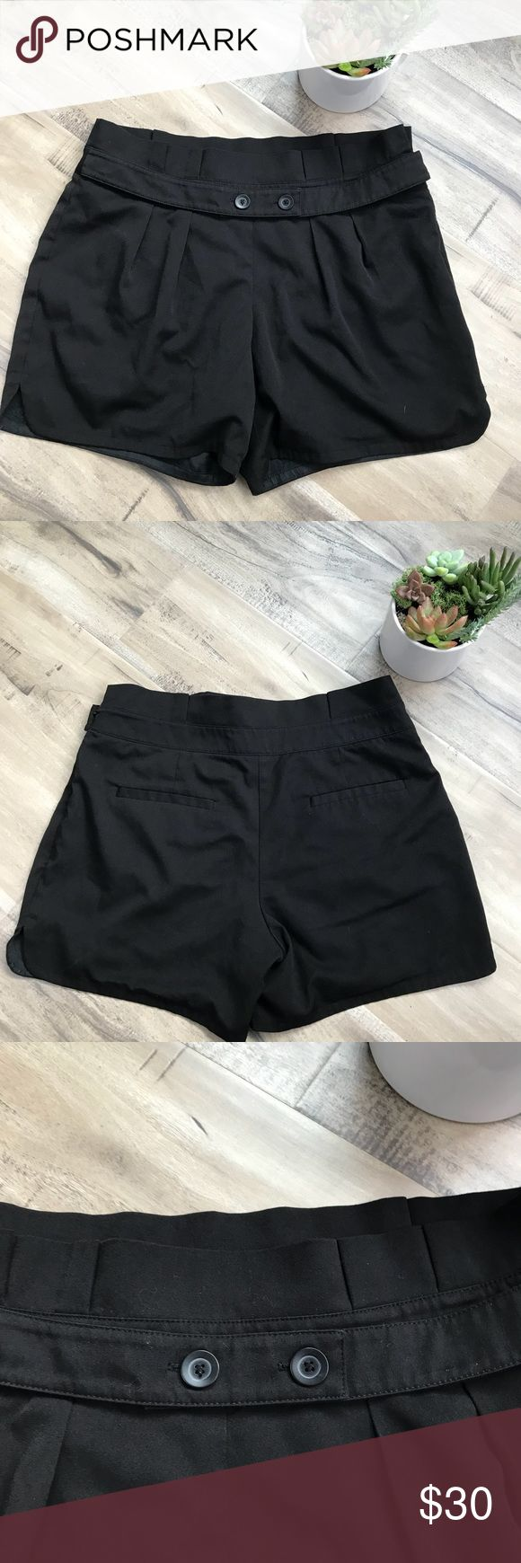 BCBGeneration High Waisted Black Pleated Shorts 8 Super cute! Perfect for All Seasons! Excellent condition! No flaws BCBGeneration Shorts