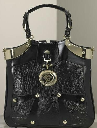 bold, go-getting, and an unapologetic show-off.     Take the Versace Quilted Snap Out Of It Bag, for instance. With its quilted leather, glamorous buckles, and gold leather handles, this bag is an attention grabber.