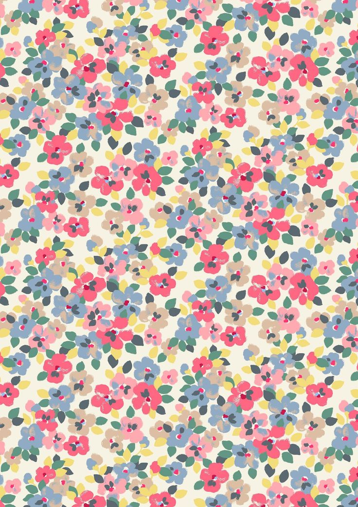 Painted Pansies | an energetic new floral in bright, punchy colours, this print was inspired by a vintage Japanese kimono | Cath Kidston Spring Summer 2017 |