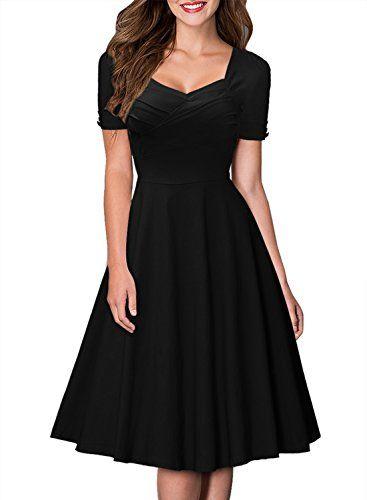 Miusol Womens Short Sleeve Hepburn Style Retro Swing Bridesmaid Dress - http://darrenblogs.com/2015/11/miusol-womens-short-sleeve-hepburn-style-retro-swing-bridesmaid-dress/