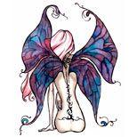 Fairy wings tattoo design