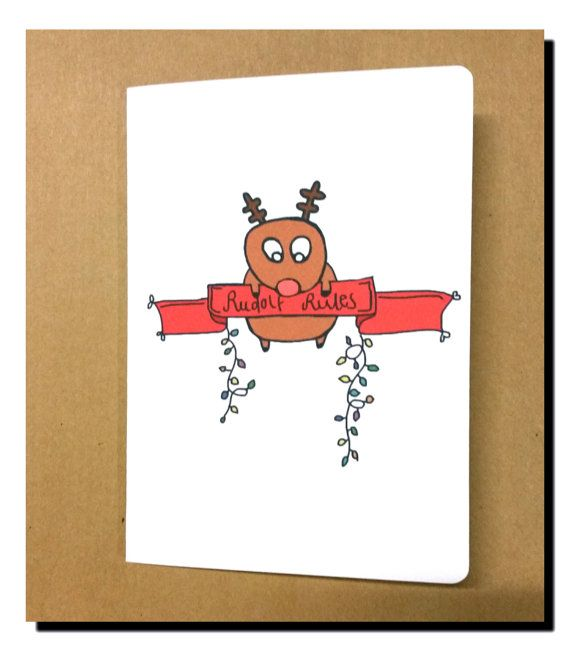 Hey, I found this really awesome Etsy listing at https://www.etsy.com/au/listing/250262359/rudolf-rules-christmas-card