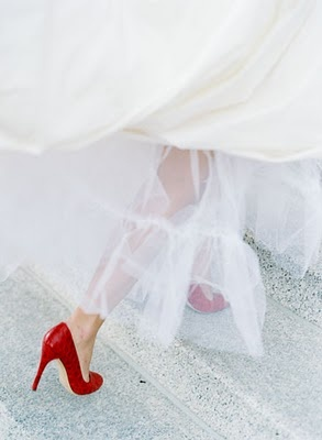 Red Wedding Shoes <3