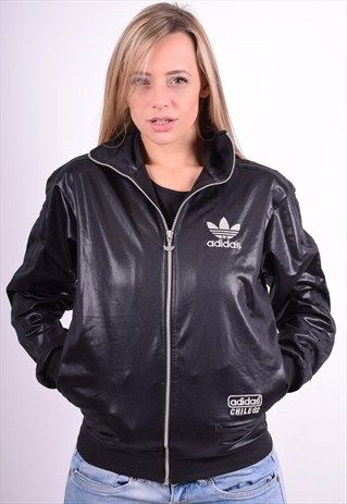 ADIDAS WOMENS VINTAGE TRACKSUIT TOP JACKET SIZE 12 90'S