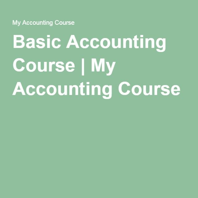 Best 25 accounting course ideas on pinterest bookkeeping and basic accounting course my accounting course fandeluxe Choice Image