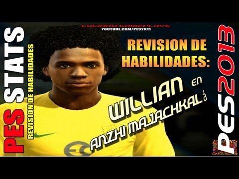 Stats Willian Borges en Anzhi Majachkalá / Revision habilidades PES 2013...