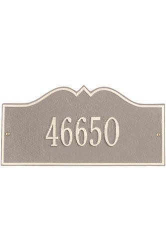 Hillsboro One-Line Petite Wall Address Plaque - petite/one line, Beige by Home Decorators Collection. $55.00. Hillsboro One-Line Petite Wall Address Plaque - It's Your Own Little Corner Of The World - So Why Not Mark It With Pride? A House Sign Announces A Message Of Distinction. These Premium, Textured And Dimensional Address Plaques Are Designed With Large Letters And Numbers For Maximum Visibility. Choose From Our Exceptional Array Of Custom Address Plaques To Find The Ho...