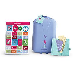 "American Girl® Accessories: Travel Set   I WANT THIS BECAUSE MY AMERICAN GIRL DOOL "" RUNS AWAY "" ALOT"