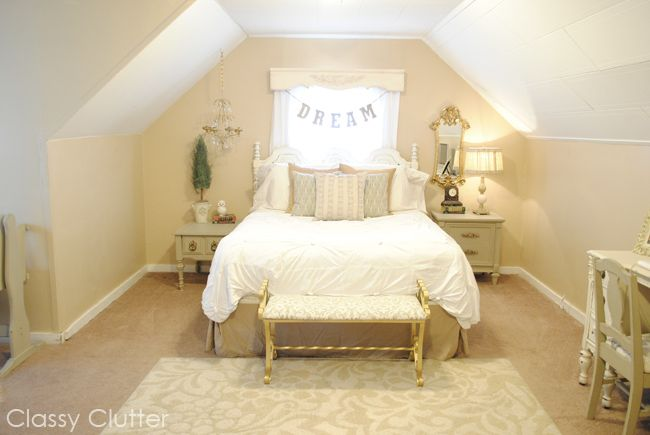 Romantic Master Bedroom Makeover - www.classyclutter.net