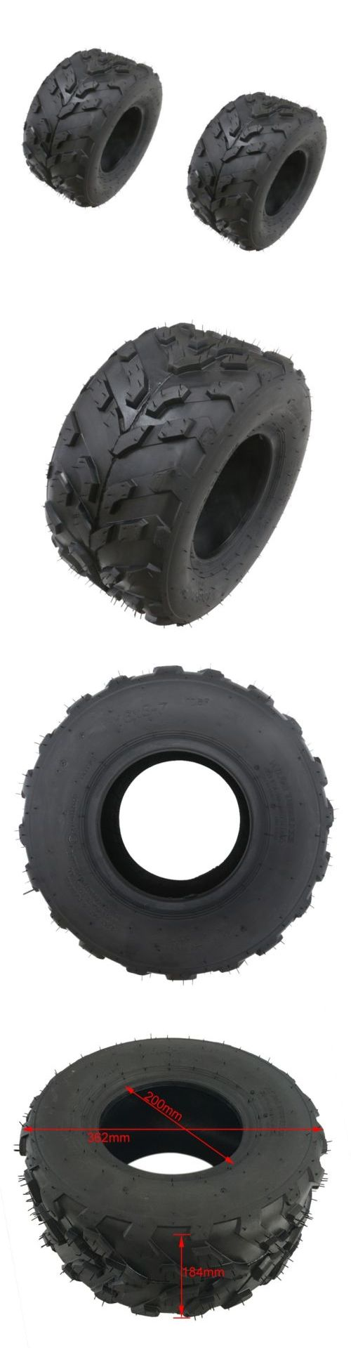 Training wheels 177839 2x tires 16x8 7 7 tyres for atv quad dirt bike