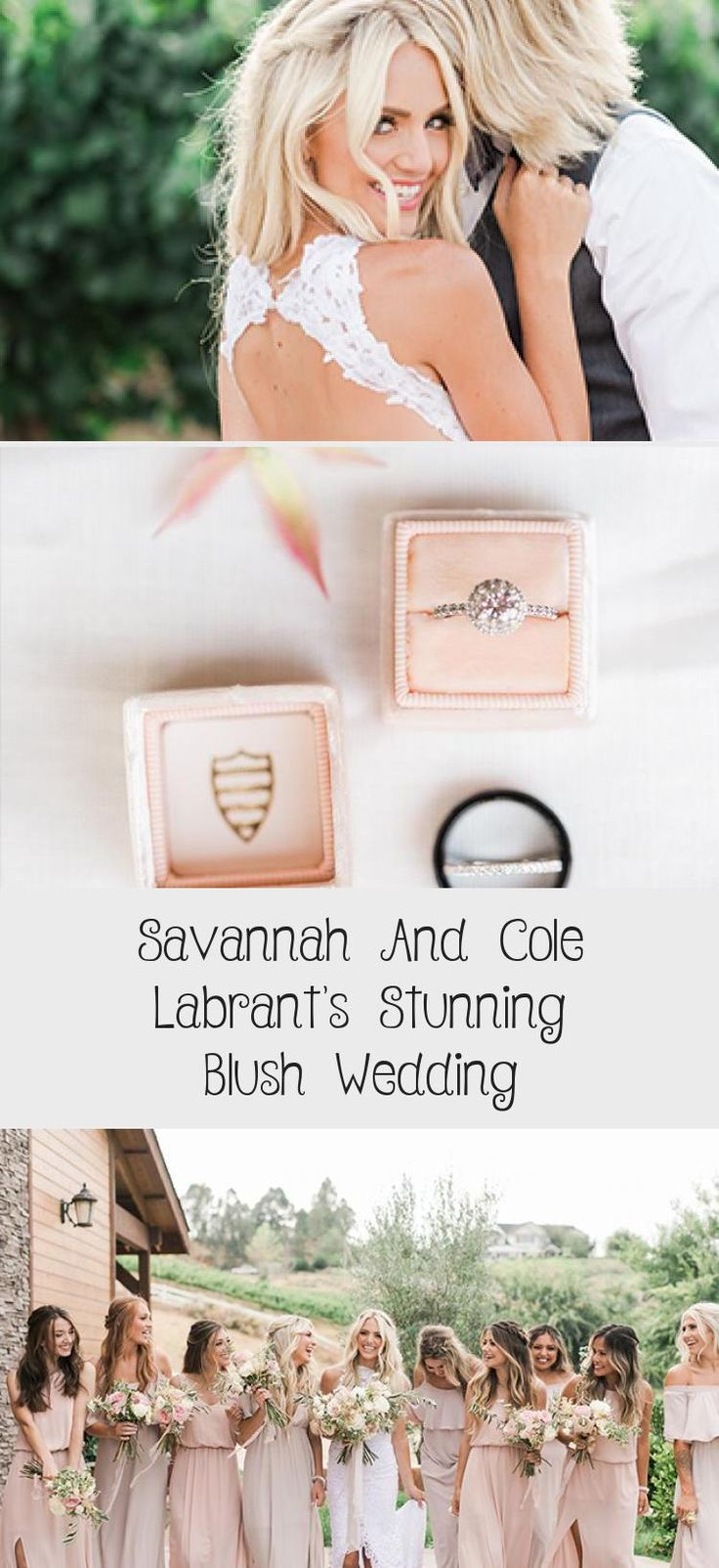 Savannah and Cole LaBrant's Stunning Blush Wedding - Inspired By This #VelvetBridesmaidDresses #BridesmaidDressesLong #BridesmaidDressesColors #BridesmaidDressesTwoPiece #BridesmaidDressesWithSleeves