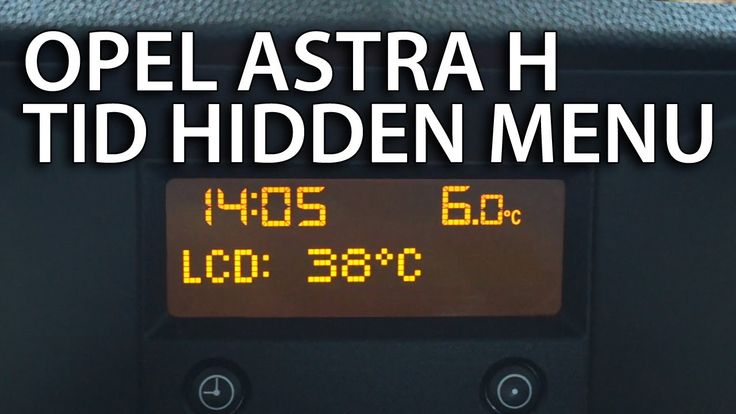 How to enter hidden service menu #Opel #Astra H CD30 & TID (triple information display #Vauxhall)