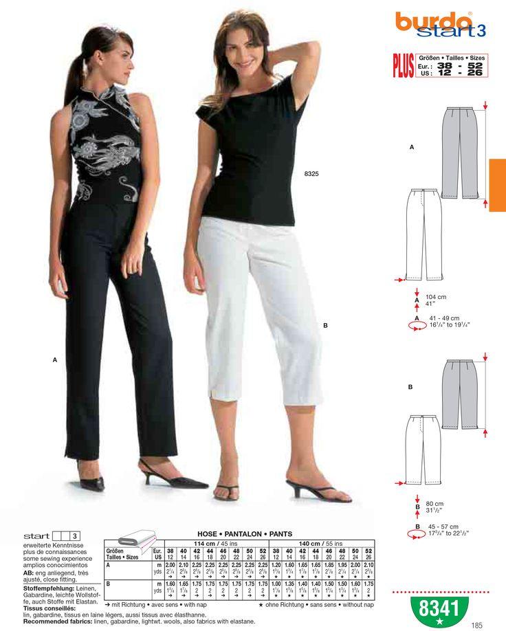 Burda naaipatroon 8341 en andere naaipatronen vind je bij Textielstad.nl. ✓ Snelle levering ✓ Beste prijs ✓ Betrouwbaar ✓ A-merken.