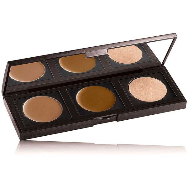 Laura Mercier Contour-To-Go Makeup Palette ($40) ❤ liked on Polyvore featuring beauty products, makeup, cheek makeup, beauty, palette makeup, laura mercier, brown makeup, laura mercier makeup and laura mercier cosmetics