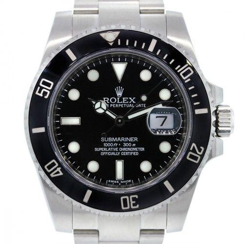 Rolex Submariner 16610 Black Ceramic Bezel Watch