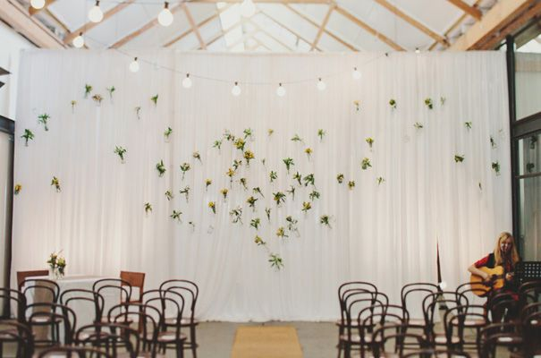 floral ceremony backdrop | Jonathan Ong