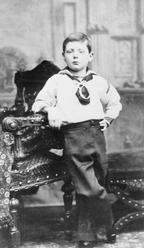 Winston Churchill, age 7 - he was full of himself even then - a great man in the making.