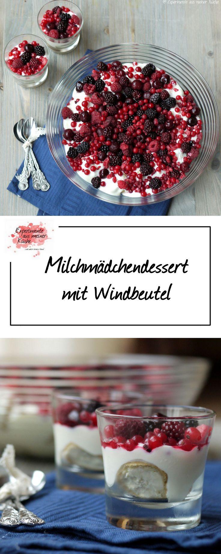 Milchmädchendessert mit Windbeutel | Rezept | Dessert