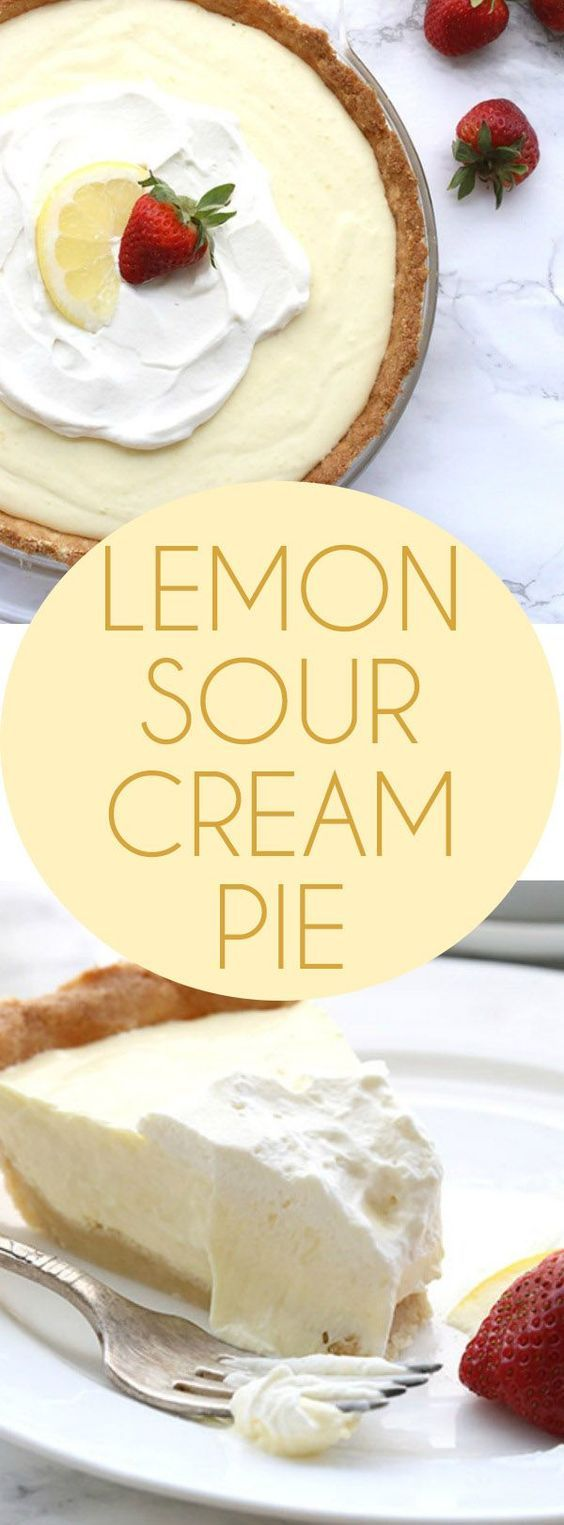 This low carb Lemon Sour Cream Pie has a grain-free crust and a creamy keto…