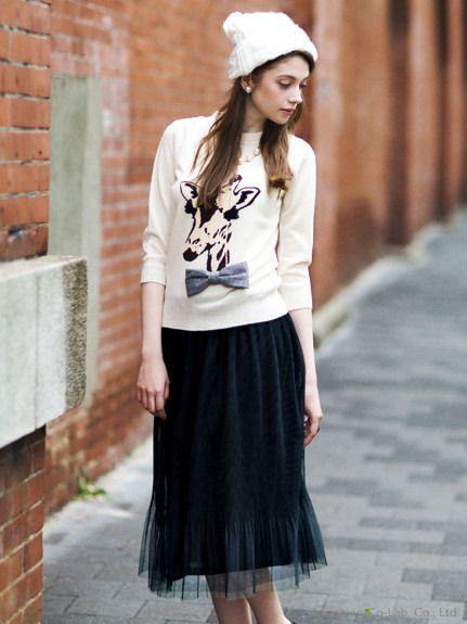 ミリオンカラッツ チュールミディスカート/ Midi Skirts ミモレ丈スカート Editor's Picks on ShopStyle