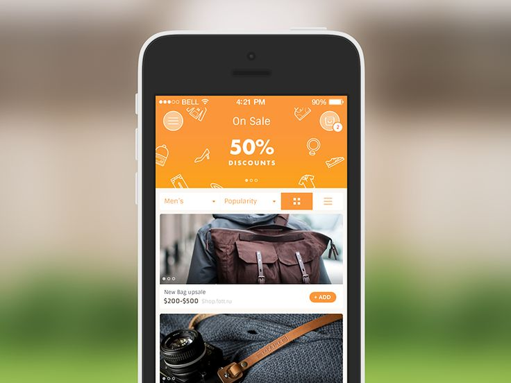List View | iPhone App DesignGoogle+|Dribbble|Behance|Twitter|http://ramotion.com