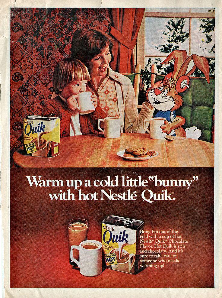 """Nestlé Quik :: """" Warm up a cold little """"bunny - """"    (( 1976 ))"""