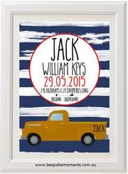 Product image of Vintage Truck Birth Print