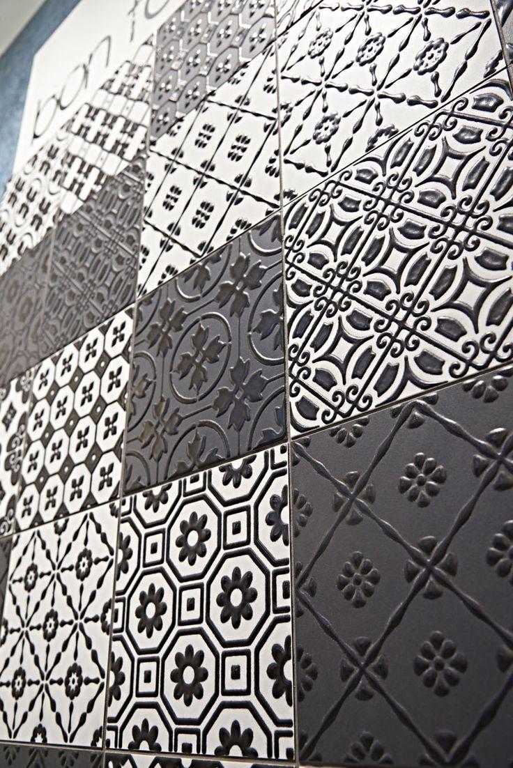 Porcelain stoneware wall/floor tiles BON TON BLACK Bon Ton Collection by @unicabytarget