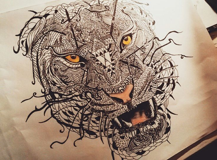 Zentangle Tiger