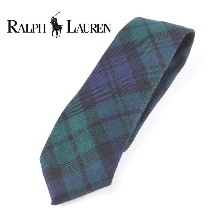 Polo Ralph Lauren ポロラルフローレン ネクタイ グリーン チェック ウール Og Rl 068