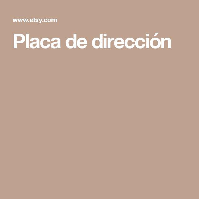 Placa de dirección