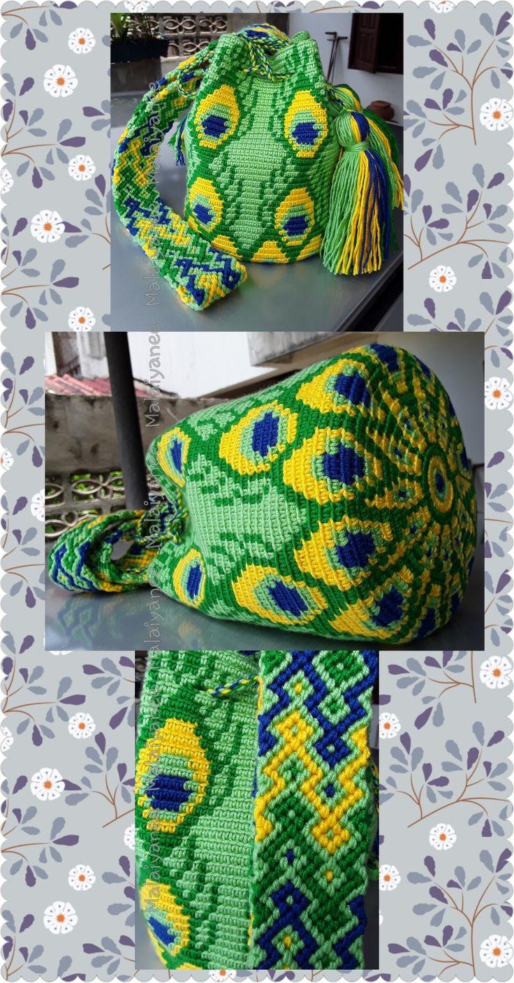 handmade mochila wayuu  crochetbag