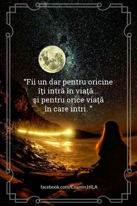 Fii un dar pentru oricine îți intră în viață și pentru orice viață în care intri. http://ift.tt/2fIrIgH Seară frumoasă prieteni oriunde v-ați afla!