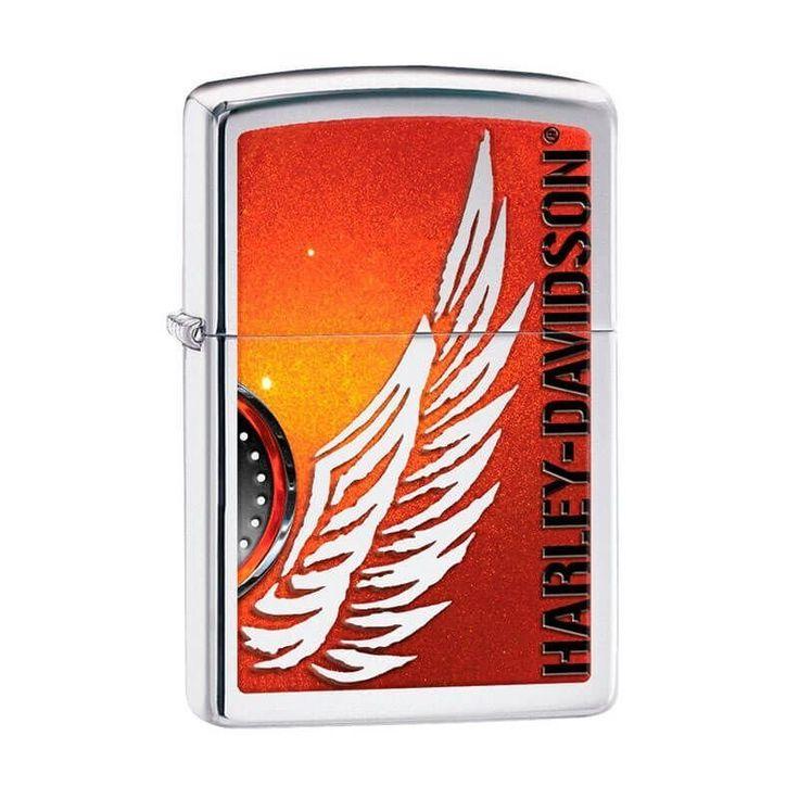 Isqueiro Zippo 28977 Harley-Davidson® Wing Polido - Gerilu.com.br