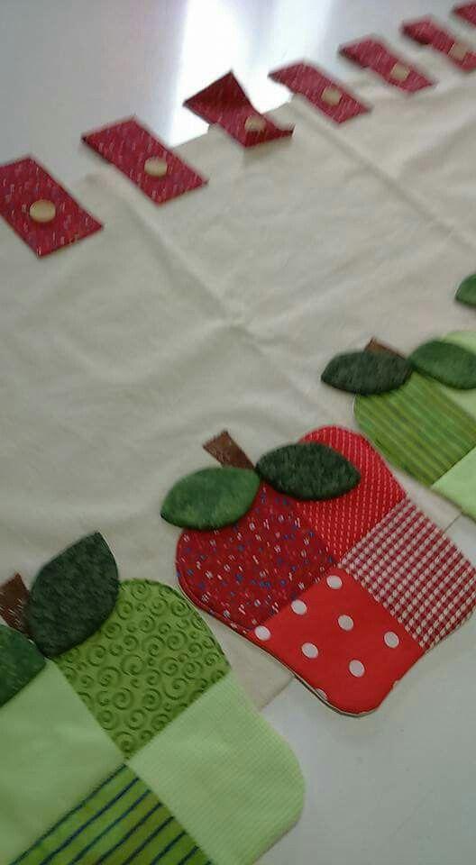 Cenefas manzanas patchwork