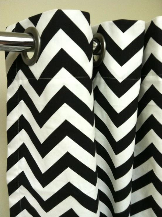 25 best ideas about chevron shower curtains on pinterest - Rideaux design noir et blanc ...