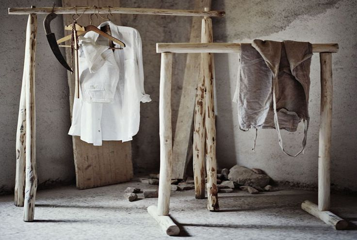LOVE LOVE these clothes racks by Italian #wood craftsman Andrea Brugi