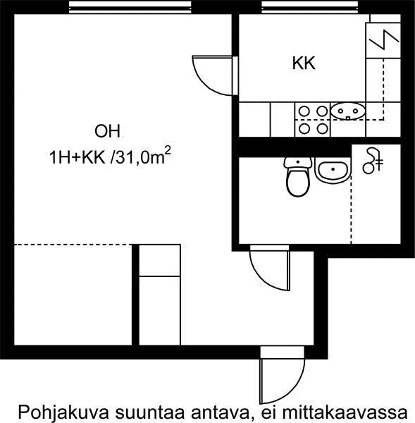 Vuokra-asunnot - Jyväskylä, Keltinmäki, 1h+kk, 31m² - Sienitie 2, 40640, Jyväskylä | sato.fi
